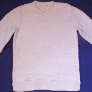 Sweaters - White Cable Knit Sweater, Size Small, Pac Sun